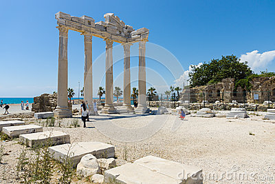 The ruins of the temple of Apollo Editorial Stock Photo