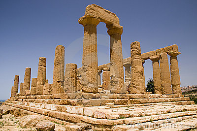 The ruins of Temple of Hera (Juno) Lacinia