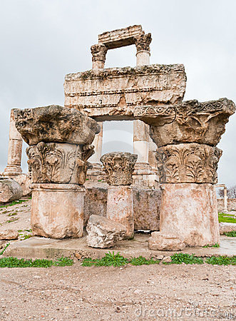 Ruins of Temple of Hercules in Amman