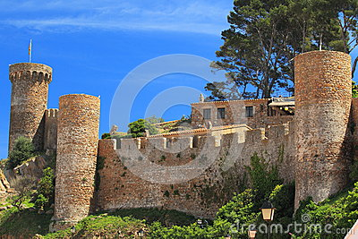 Ruins in Tossa de Mar