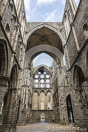 Ruins of the Villers-la-ville abbey church