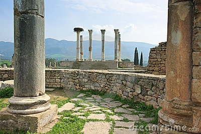 The ruins of Volubilis Capitol