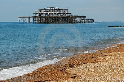 Ruins of West Pier, Brighton, England