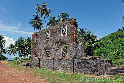 Ruins of the workshop, isle Royale, French Guiana