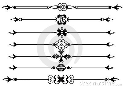 Rule lines with scrolls vector eps