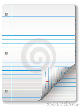 Ruled Notebook Paper Page Curl