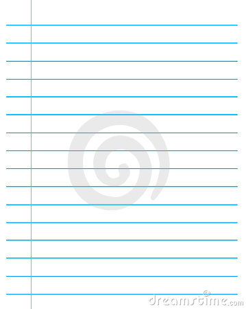 Ruled paper / Lined page