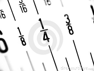 Ruler in Fractions of Inches
