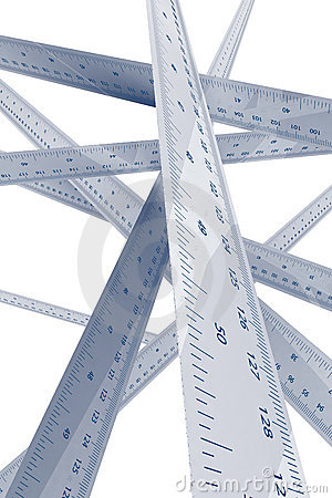 Ruler measuring and accuracy concept