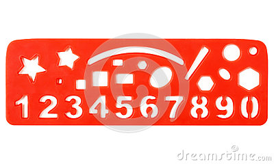Ruler With Shapes And Numbers Royalty Free Stock Photo - Image ...