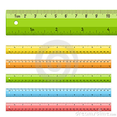 Rulers in centimeters and inches