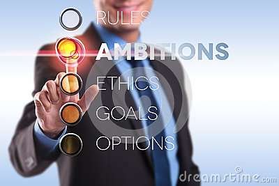 Rules, ambition, ethics, goals, options