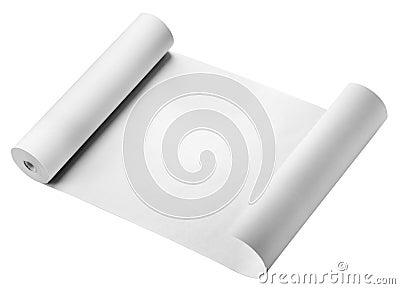 Rulle av papper som isoleras