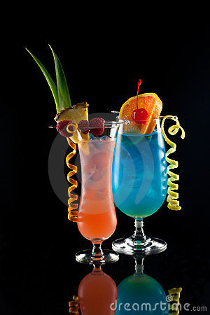 Rum Runner and Blue Lagoon