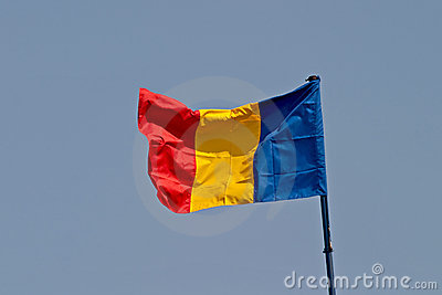 Rumänien-Markierungsfahne