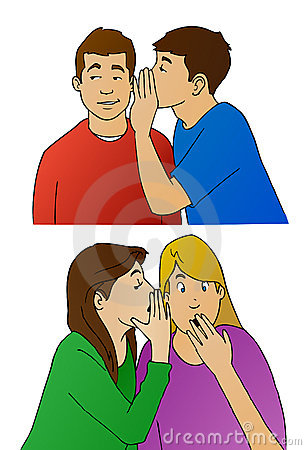 This illustration shows young people whispering to each other. Plenty ...