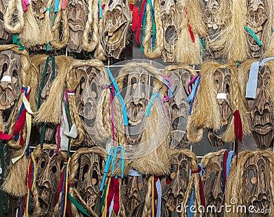 Rumuńskie Drewniane Maski