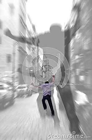Free Run Away - Abstract Shadows Royalty Free Stock Image - 511266