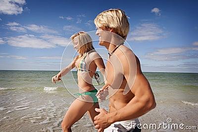 Run at the beach