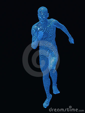Run digital man