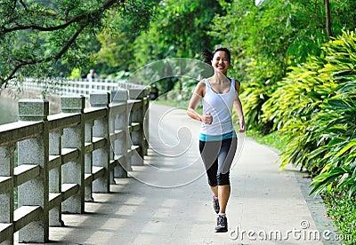 Run in garden