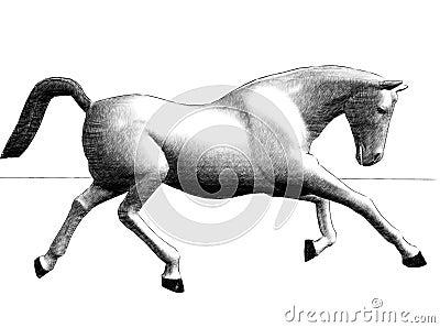 Run of horse