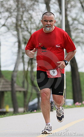 Run For Japan / Senior Editorial Stock Image