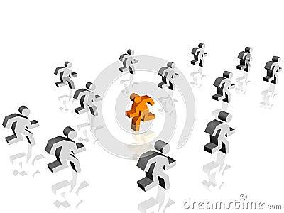 Run in opposite direction