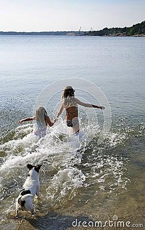 Run into the sea