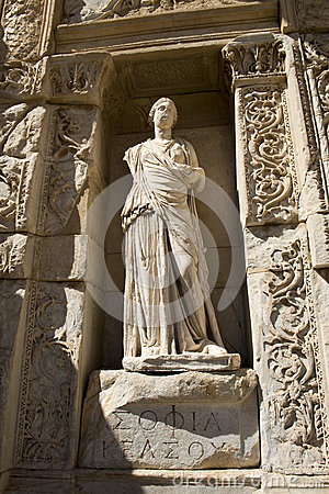 Ruínas antigas da cidade de Ephesus, curso a Turquia