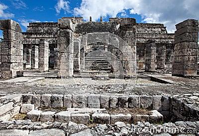 Ruínas antigas da pedra da pedra ruins.ancient. México