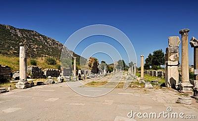 Ruínas da cidade antiga - Ephesus em Turquia