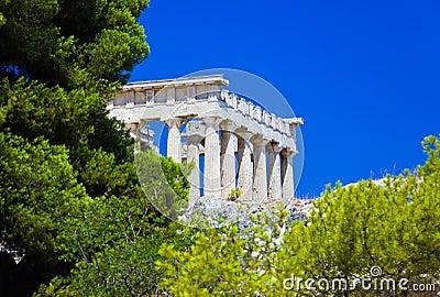 Ruínas do templo no console Aegina, Greece