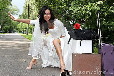 Runaway Bride hitch-hiking
