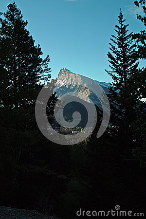 Rundle Mountain, Banff Alberta Canada.