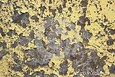 Rundown varnished surface
