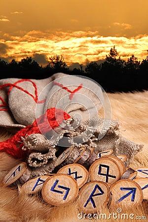 Free Runes At Sunset Royalty Free Stock Photo - 4720645