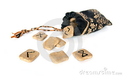 Runes and bag