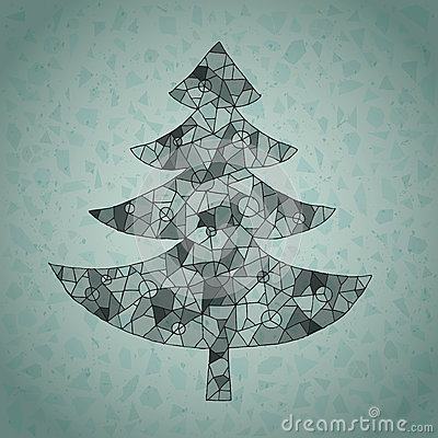 Free Runge Web Christmas Tree Greeting Card Royalty Free Stock Image - 30133086