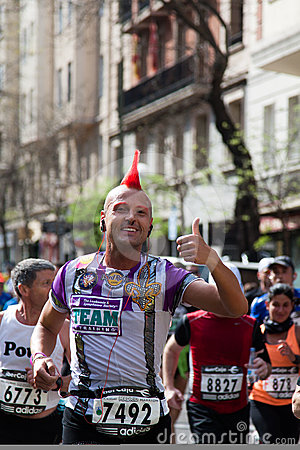 Runner in 2012 Rock´n´Roll Madrid Marathon Editorial Photography