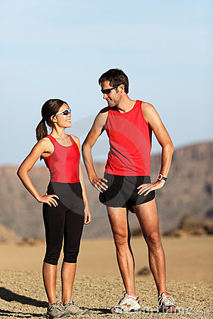 Runner couple