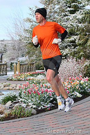 Runner exercising  Editorial Stock Photo
