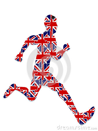 Runner jigsaw for 2012 UK olympics,vector file