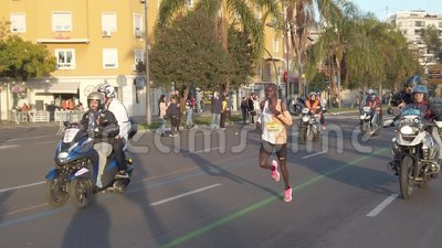 Runner Joshua Chipatgei Breaks 10K World Record stock footage
