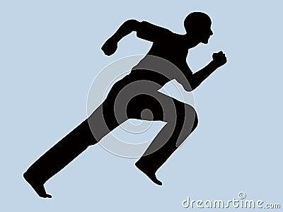 Runner man silhouette