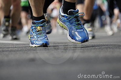 Runner in runners shoes