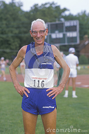 A runner at the Senior Olympics Editorial Stock Image