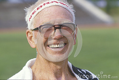 A runner at the Senior Olympics Editorial Photo