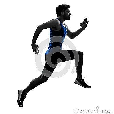 Free Runner Sprinter Running Sprinting Athletics Man Silhouette Isola Royalty Free Stock Photo - 108912605