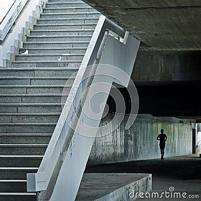 Runner in underground